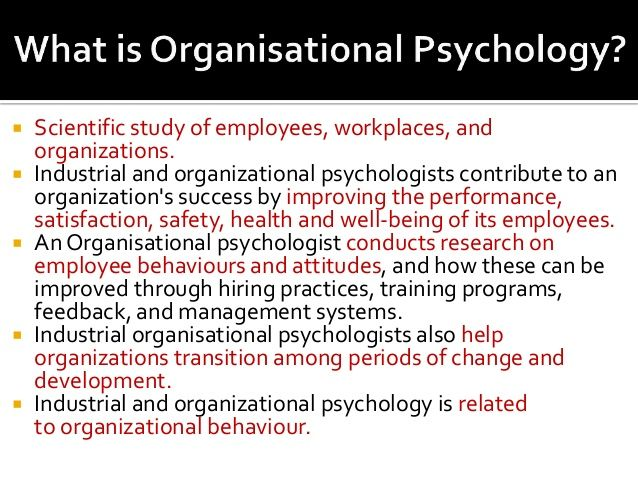 What is industrial psychology?