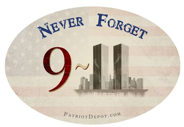 Never forget 9 11 bumper sticker