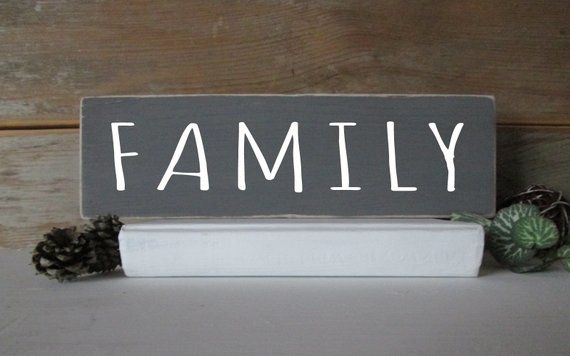 Family Wood Sign Decor Gallery Shelf Farmhouse Gift Home