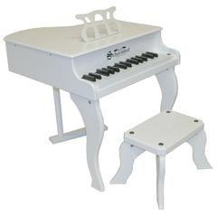 Schoenhut Baby Grand Piano - White