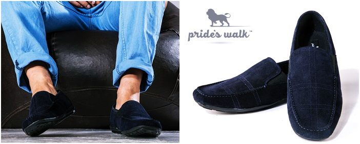 Buy Men Blue@ INR 1964 #Loafers only from Pride'sWalk  #MenShoes #MenLoafers #MenFootwear #OnlineShopping