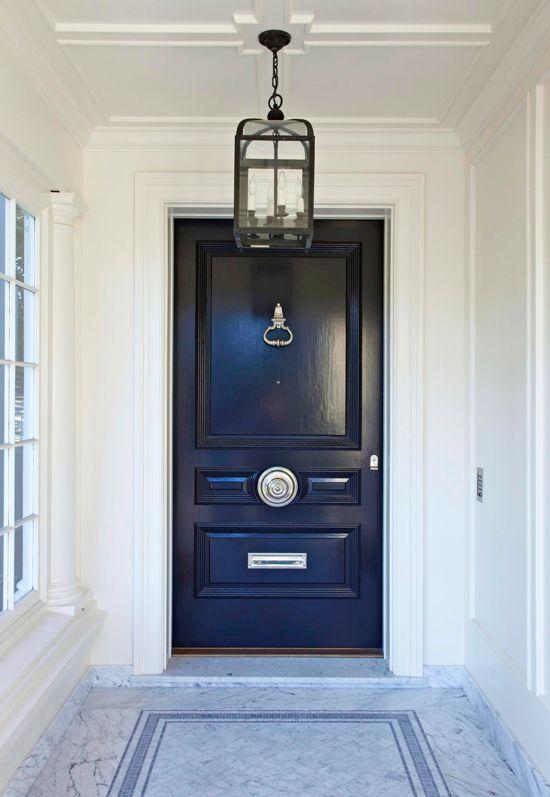 navy door with silver hardware b l u e pinterest doors navy and hardware. Black Bedroom Furniture Sets. Home Design Ideas