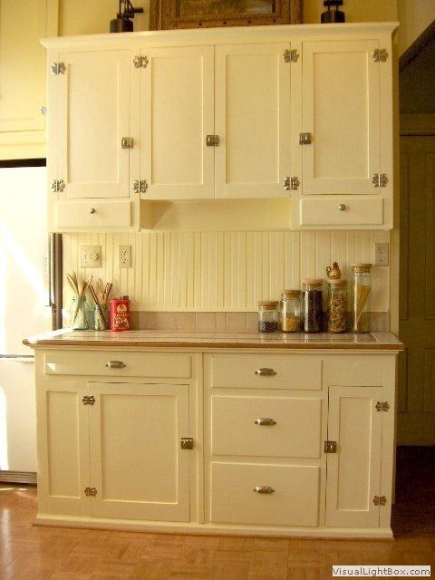 1940's kitchen cabinets | Kithcen with 1940's restored kitchen cabinets from gutted apartments ...