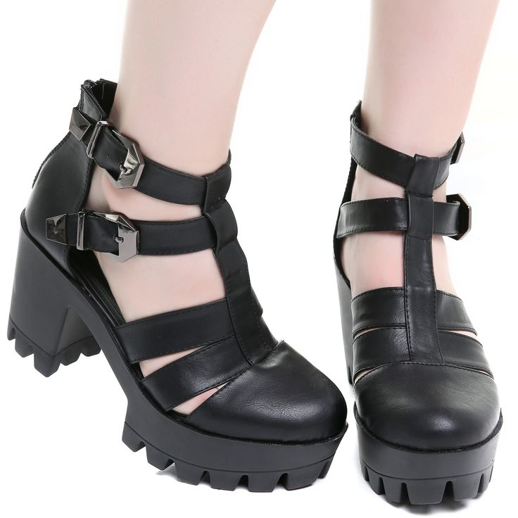 Zapatos Góticos Abiertos con Tacón | Crazyinlove España