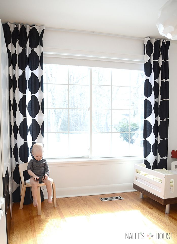 Learn How to Make Designer Curtains that Hang Seamlessly from the ceiling! #marimekko
