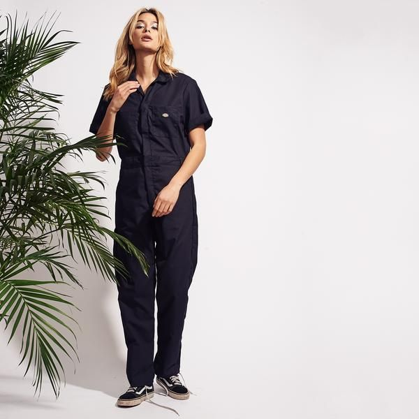 dickies short sleeve coverall black coveralls women on dickies coveralls id=16995