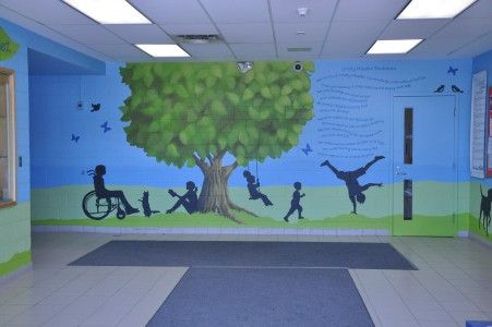 Phase 1 - School Mural - Paint A Lifestyle Cindy Scaife