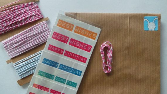 Labels/tags with label writer look!