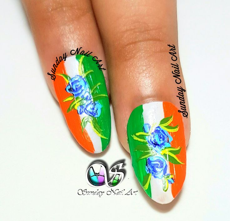 317 best sunday nail art images on pinterest indian independence day special nail art by sunday nail art video on youtube prinsesfo Gallery
