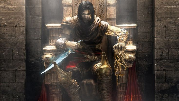 1366x768 Wallpaper prince of persia, throne, knife, armor