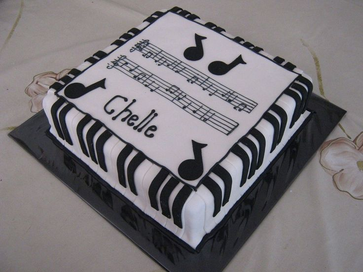 """This was made for a piano teacher's 40th. For those who can't read music, the notes are the music for """"Happy Birthday""""."""