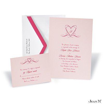 Princess Pink Wedding Invitation