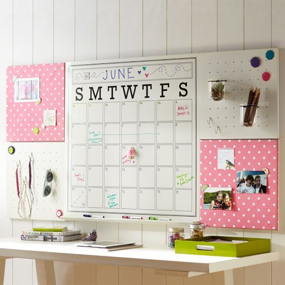 Love this style board with calendar from PB Teen! They even have 15% off for three more days with code: 49DZ-6J9J-FNZN -- so cute!