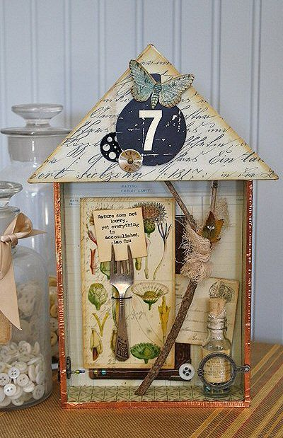 Forgotten Repository~ a box of shady thought by 7gypsies....good instructions for making this little shadowbox house