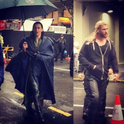 Thor 3 | Fotos do set mostram personagem misteriosa e novo traje de Loki…