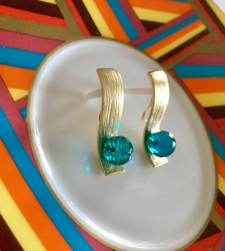 RESERVIERT !!!Green Quartz Earrings # Quarz Ohrringe# Grün Naturstein Ohrringe# Naturstein Ohrringe#Ohrringe Vergoldete#Green Apatite Hydro von MarinaSteinDesign auf Etsy https://www.etsy.com/de/listing/577131862/reserviert-green-quartz-earrings-quarz