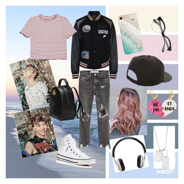 """You Never Walk Alone"" by denameilani on Polyvore featuring Coach, Converse, Gucci, Gray Malin, NIKE, Edie Parker, Master & Dynamic and Variations"