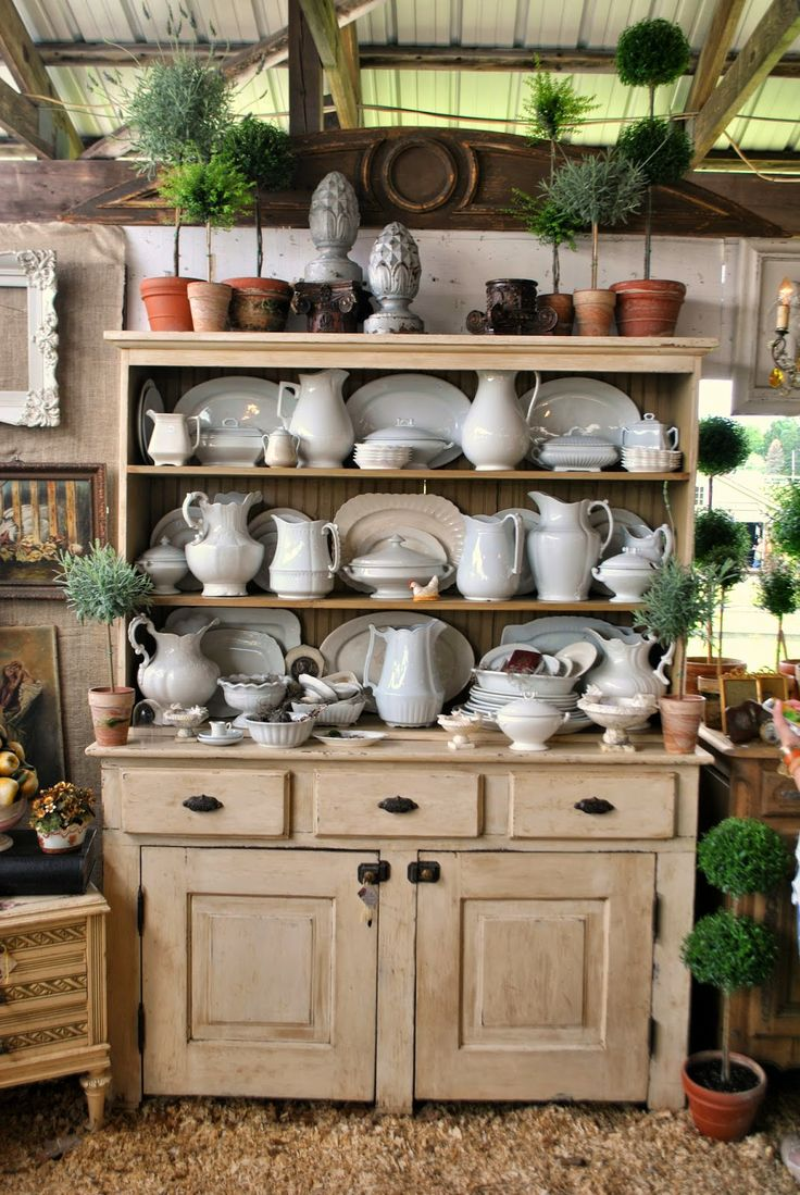 White Country Kitchen Hutch Nice Home Design