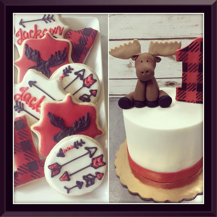 We had the pleasure of getting to help celebrate the sweetest first birthday for baby boy Jackson! Love this lumberjack/outdoorsy theme! #legacycakes #legacycakesbakery #dallas #dfwcakes #dallascakes #fortworth #fortworthcakes #dfw #moose #plaid #red #lumberjack #nomnom #yum #firstbirthday #cake #cakestagram #decoratedcookies #arrows #birthdaycake #birthday