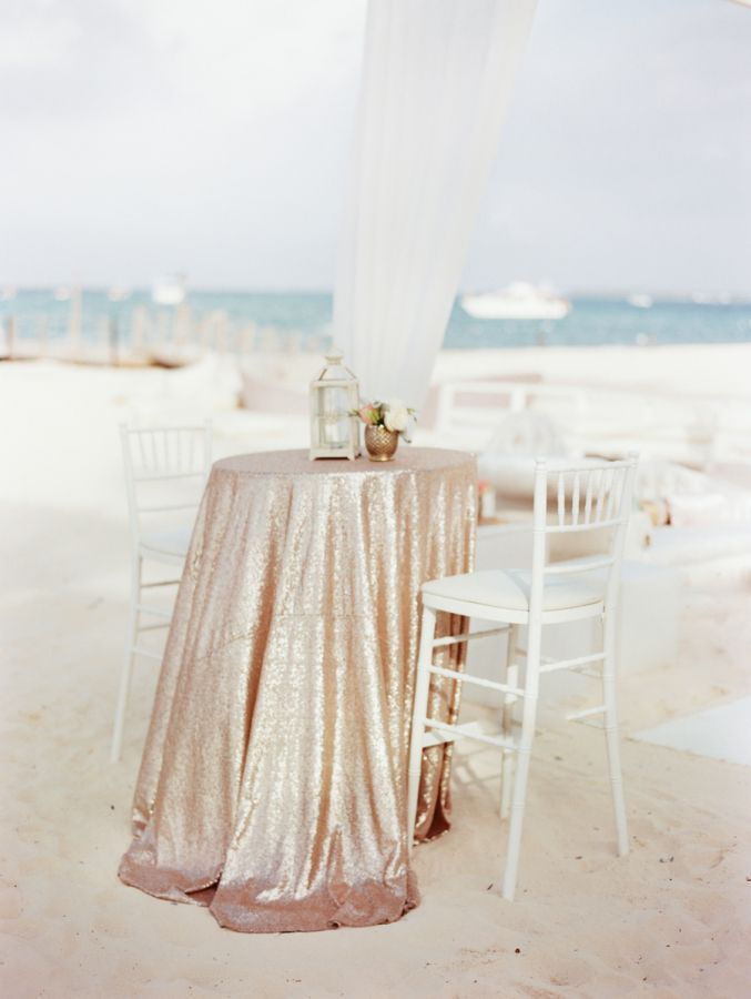 Beach wedding with a hint of glam: http://www.stylemepretty.com/destination-weddings/2015/10/09/romantic-beach-wedding-in-the-dominican-republic/ | Photography: Clary Photo - http://claryphoto.com/