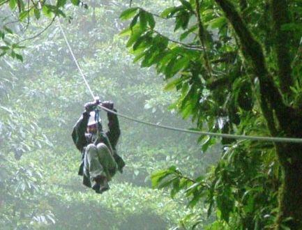 Scariest adventure of my life so far!!!  Zip Line - Monteverde Park, Costa Rica