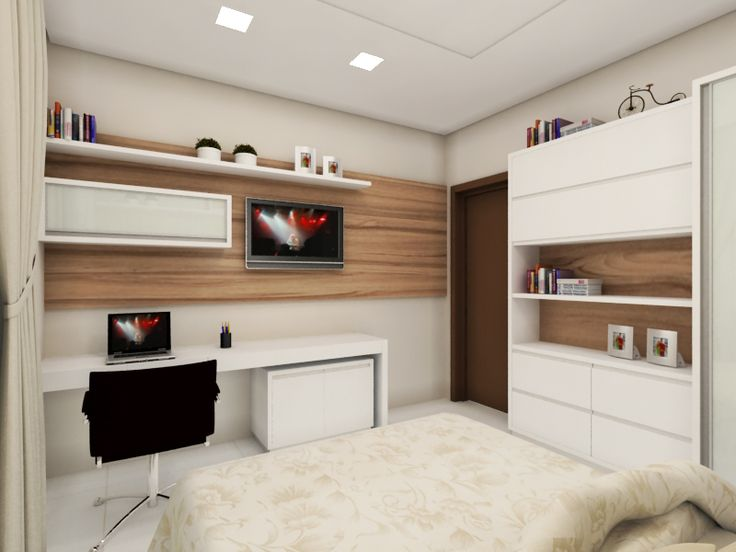 decoração de quarto pequeno casal simples - Pesquisa Google