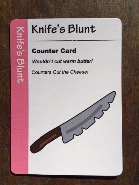 Fart Juice Cards. Knife's Blunt