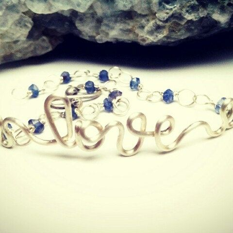 Sapphire Love Sterling Silver Bracelet