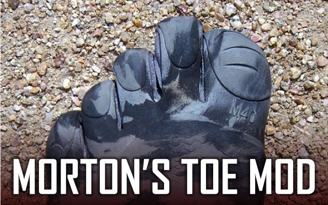 DIY Morton's Toe modification for Vibram Five Finger 'barefoot' shoes - works to increase the length for any toe or to tweak sizing - brilliant!