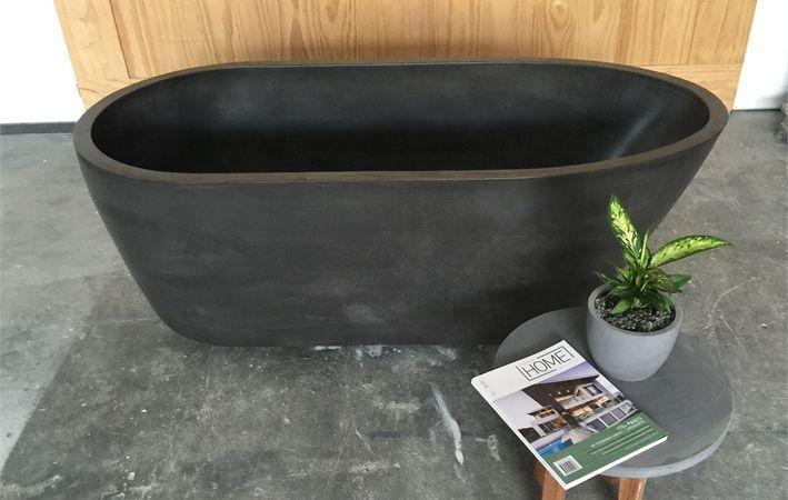 Makers Lane :: Polished Concrete Bathtub Custom Made, Bespoke made in Australia.