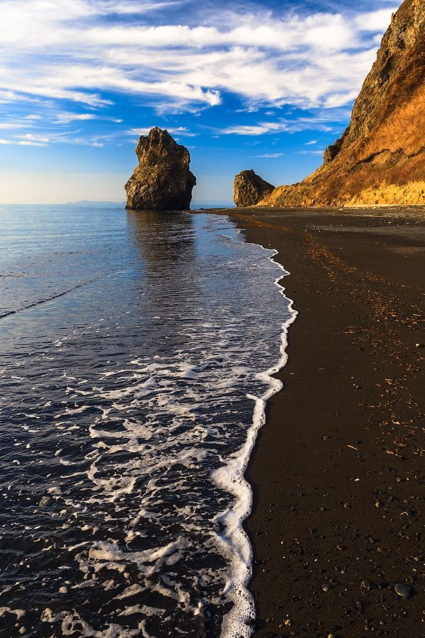 The coast of Aniva Bay, Sakhalin Island, Russia