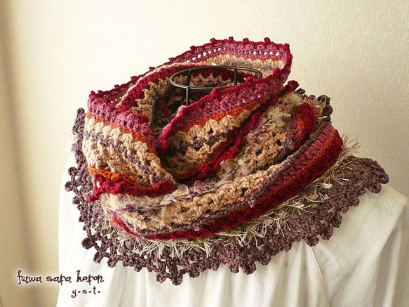 crochet snood scarf