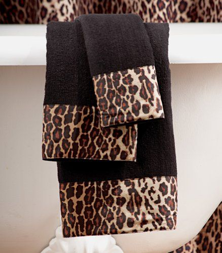 Leopard 3 Pc. Bathroom Towel Set By Collections Etc