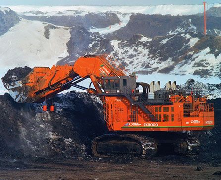 2004 - the might EX8000 is released. With an operating weight of 800 tonne it is Hitachi's entrant into the world's largest-class excavator.