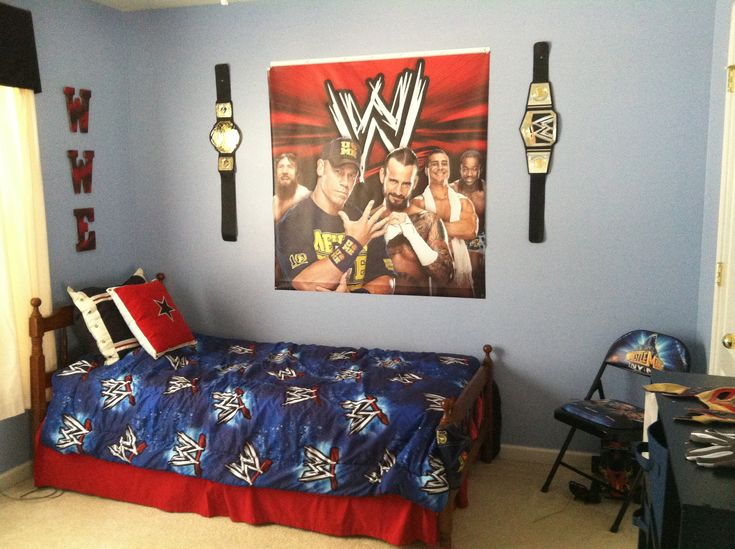 Evanu0027s WWE Bedroom! :) #wwe #wrestling #johncena (More Pics Of