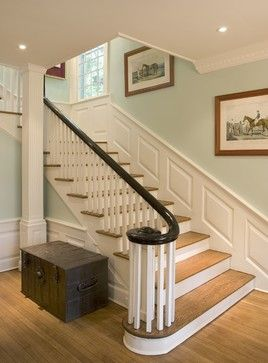Interior Stair Rails Black And White Design Ideas, Pictures, Remodel, and Decor - page 4