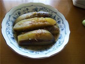 ほったらかし。なすの煮びたし  Bitashi boiled eggplant