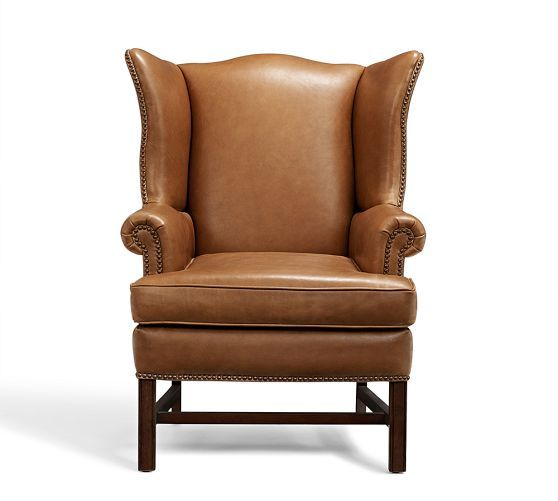 25 best ideas about leather wingback chair on pinterest for Leather wingback dining chair