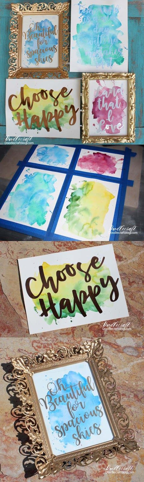 Watercolor Vinyl Calligraphy with Cricut Explore Air 2