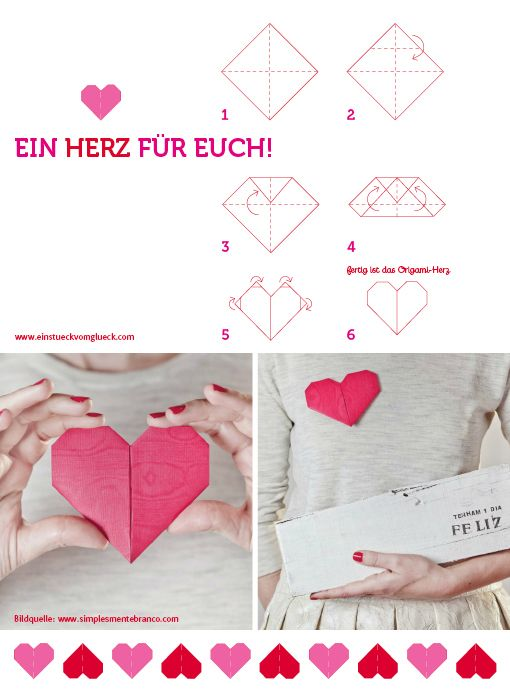 DIY Origami Heart Tutorial | asides from this being in a different langue, its really cute!