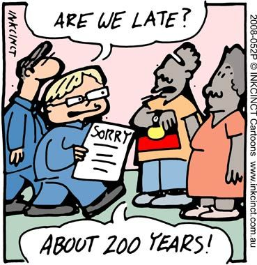 Sorry Day cartoon for analysis