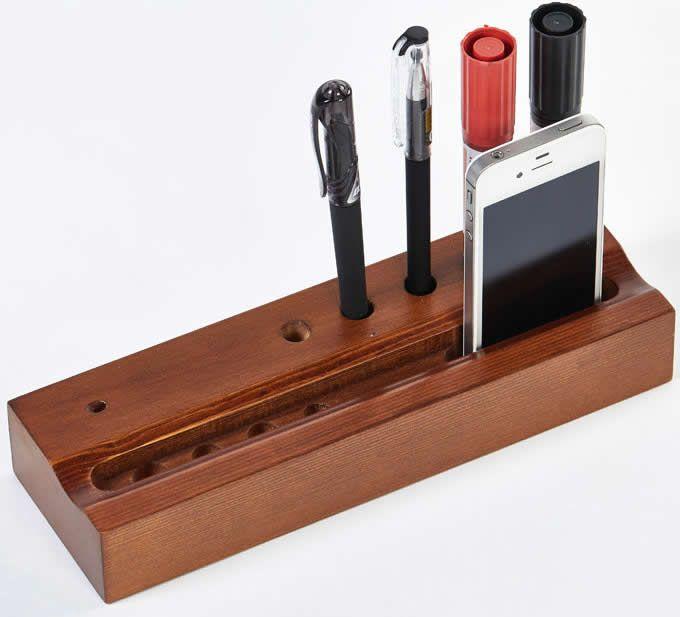 Wooden Pencil/Pen Holder /Business Card Holder /Desk Organizer