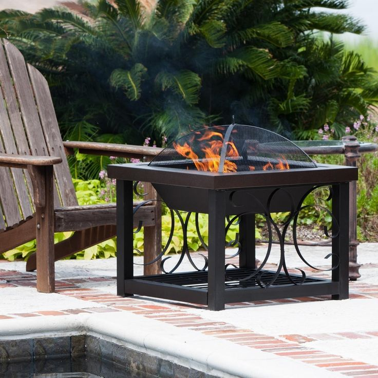 Cocktail Wood Burning Fire Pit Table By Fire Sense   Hammered Bronze    61331 : Ultimate Patio