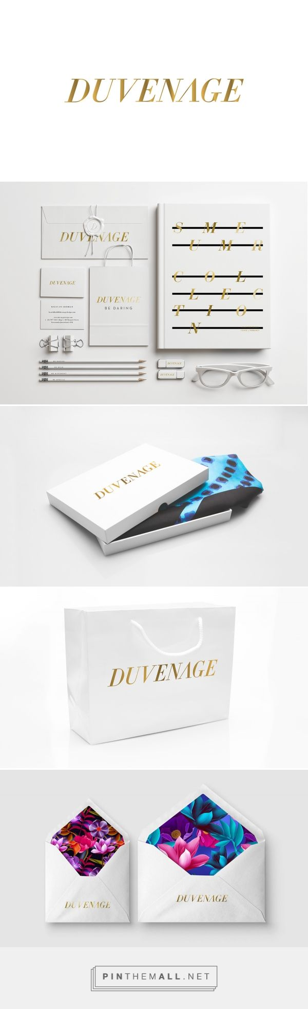 Fashion, graphic design and packaging for Duvenage on Behance by Josip Kelva Melbourne, Australia curated by Packaging Diva PD.  Fashion brand with simple beautiful packaging.