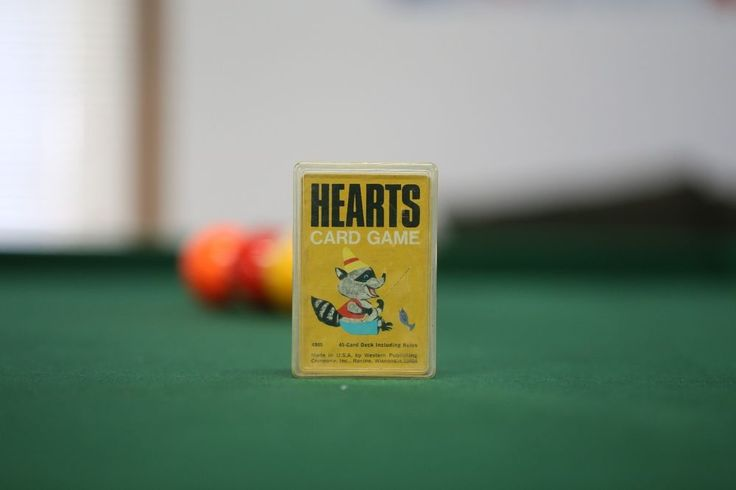 Whitman Hearts Card Game, cards in hard plastic casing #WHITMAN