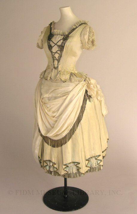 Fancy dress costume  c. 1883-87  Swan & Edgar  Gift of Helen Larson Estate  2001.31.15AB
