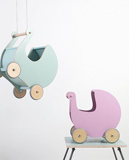 Sebra Puppenkinderwagen in Rosa und Mint.