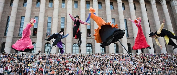 Theatre performance by the parlament house, Helsinki.