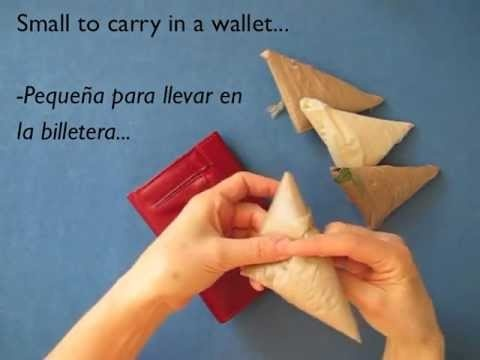 Leyla Torres strikes again with a well made video on folding plastic shopping bags to store neatly.
