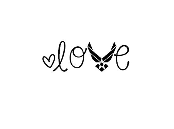 Air Force Love Car Laptop Phone Tablet Decal by InspiredByGrayce, $1.50